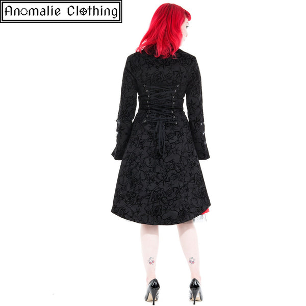 Black Flocked Tattoo Coat