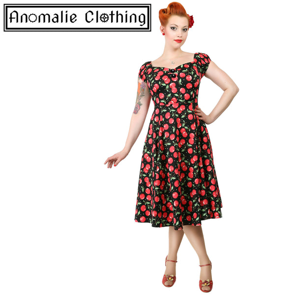 Cherry Print Dolores Doll Dress - One UK Size 6 Left!
