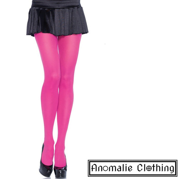 Opaque Nylon Tights in Fuschia