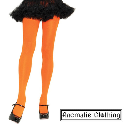Opaque Nylon Tights Orange