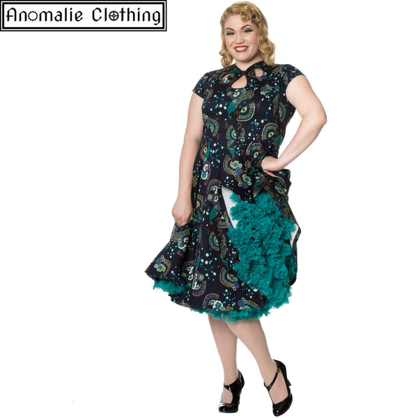 Proud Peacock Cut Out Dress