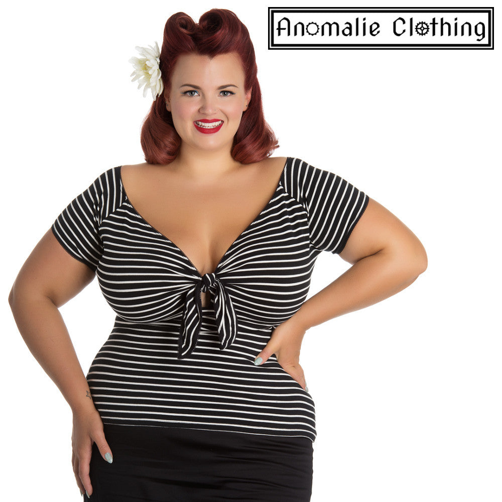 Black & White Striped Hannah Top