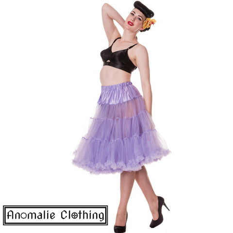"26"" Long Hell Bunny Petticoat in Lavender Purple"
