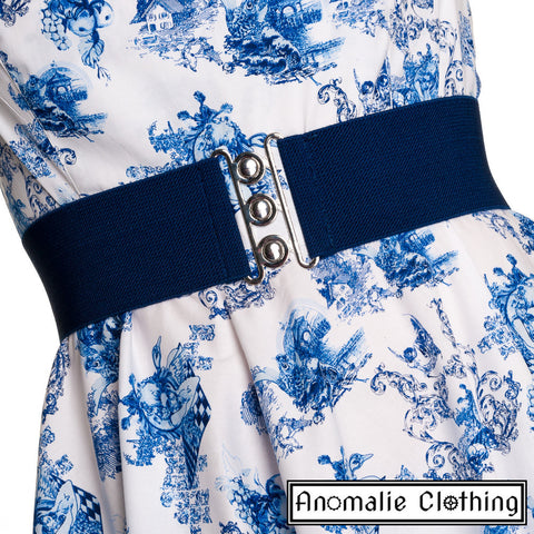 Retro Belt in Navy Blue - One Size S Left!