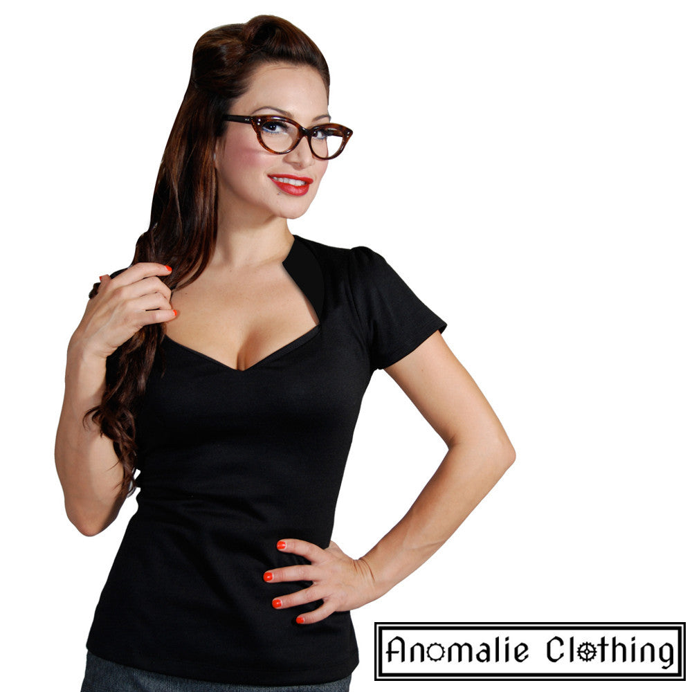 4a624bd85b Details about Rock Steady Black Sophia Top - 1950s Vintage Retro Rockabilly  Pinup Psychobilly