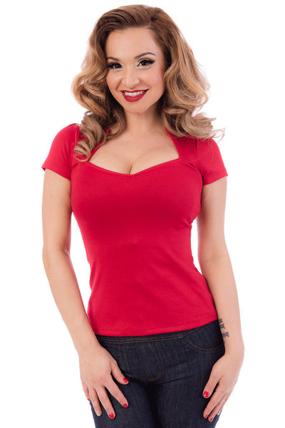 Red Sophia Top