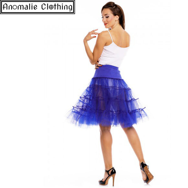 "26"" Long Flared Petticoat in Blue"