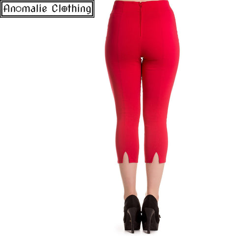 Tina Capris in Red - 1 Size L Left!