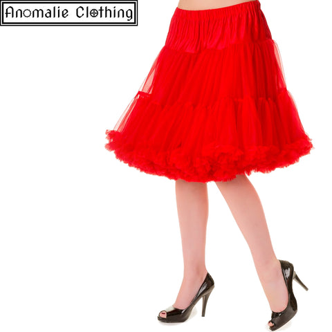 "20"" Short Dancing Days Petticoat in Red"