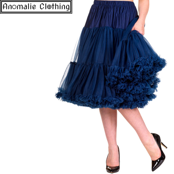 "26"" Long Lifeforms Petticoat in Navy Blue"
