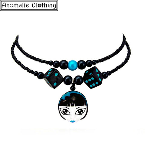 Lady Luck Necklace in Blue