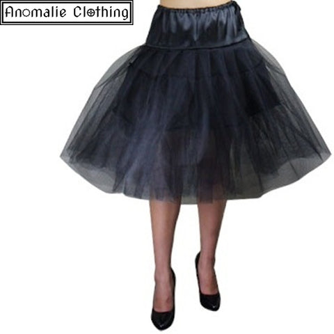 "24.5"" Long Chic Star Tutu Petticoat in Black"