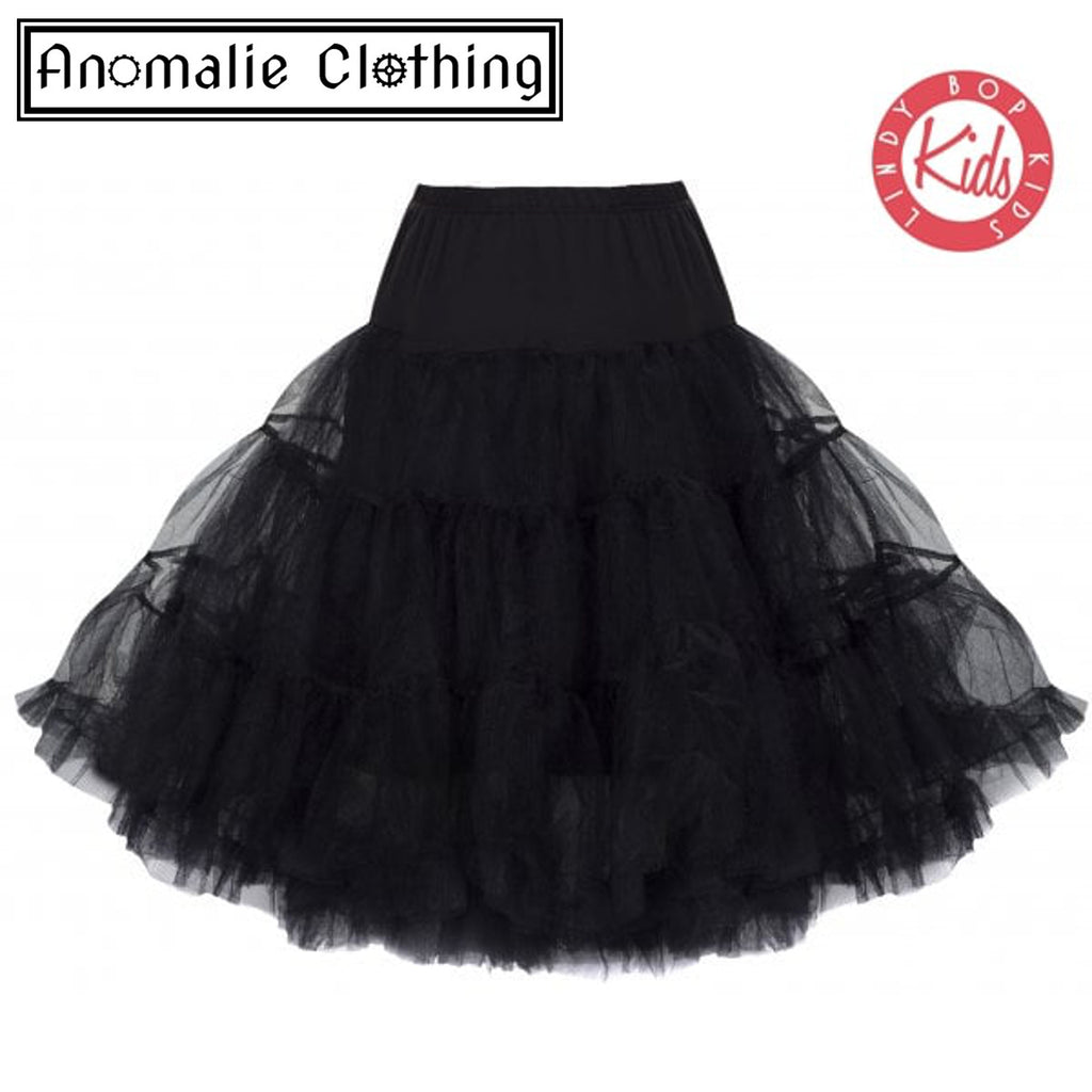 Children's Black Petticoat - One Age 5-6 Left!