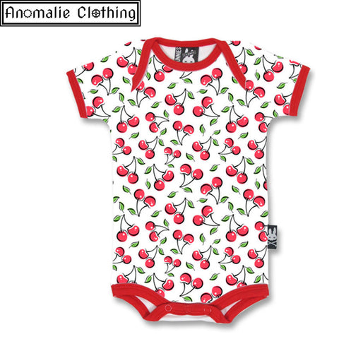 Cute Cherries Baby Romper