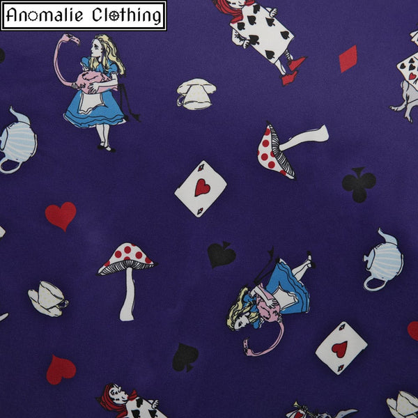 Ophelia Alice in Wonderland Swing Dress in Purple - Discontinued