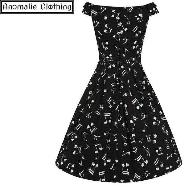 Christie Music Print Swing Dress