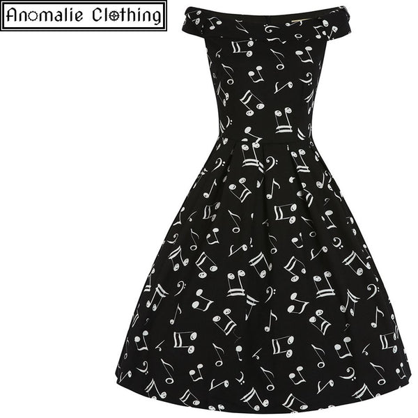Christie Music Print Swing Dress - One UK 26 (AU 24) left!