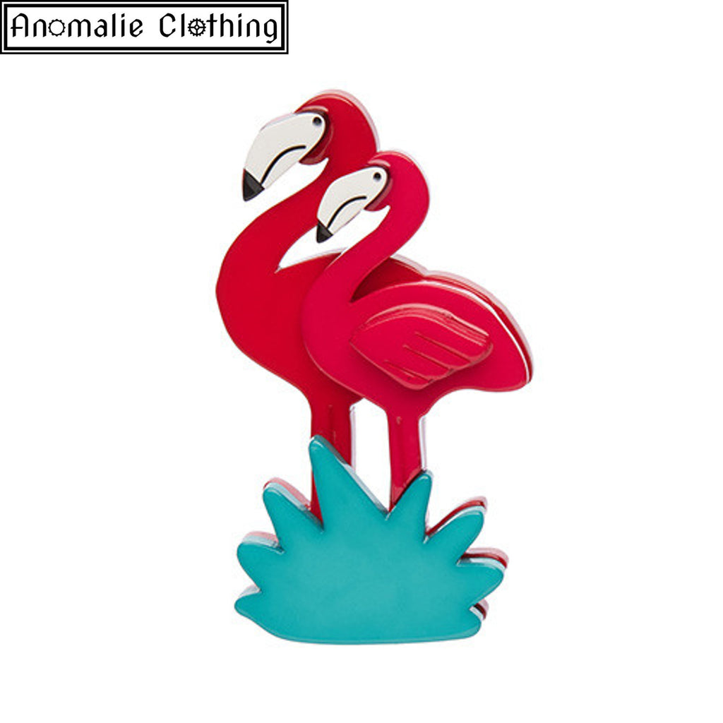 Attempted Flamboyance Flamingo Brooch - Sold Out!