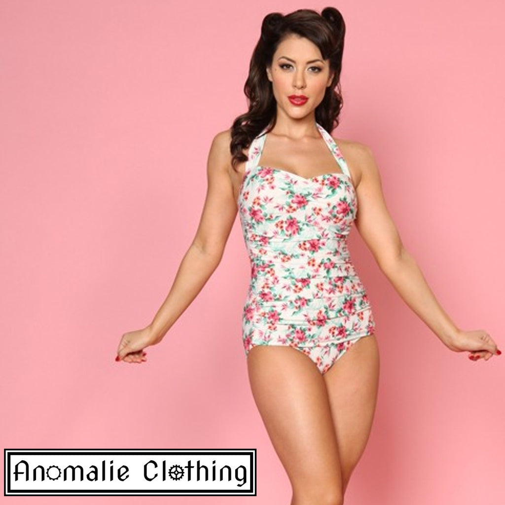 Romance Swimsuit with Sarong Detail