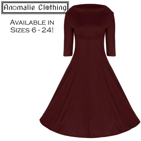 Burgundy Marla Swing Dress