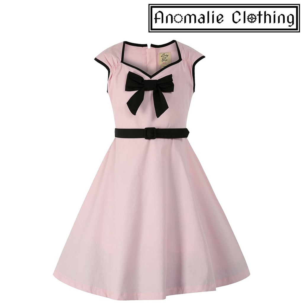 Pink & Black Mini Alanis Children's Dress - Discontinued