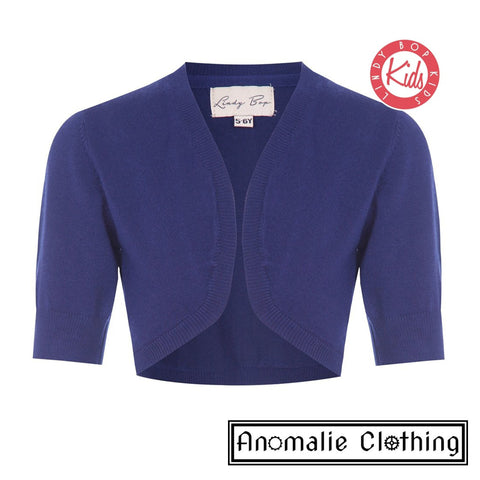 Navy Blue Mini Kennedy Children's Shrug - One Size 3-4 Left!