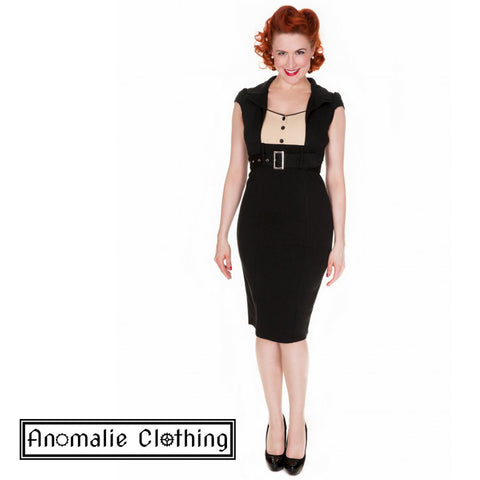 Black & Cream Wynona Pencil Dress - Discontinued