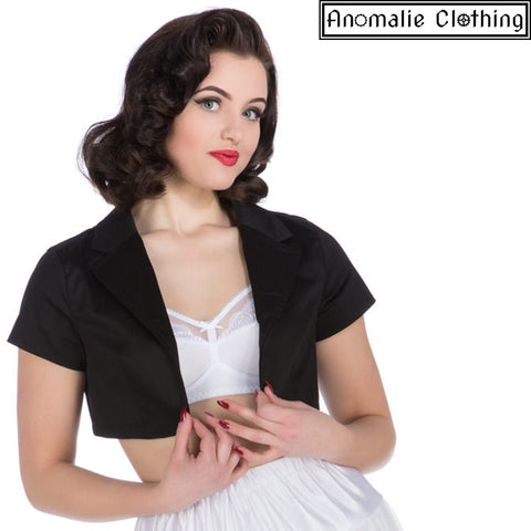Black Short Sleeve Bolero