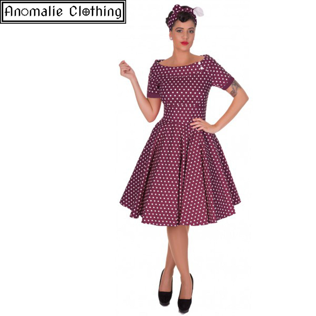 Darlene Swing Dress in Purple