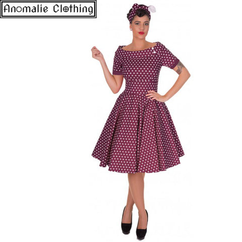 Marlene Swing Dress in Purple