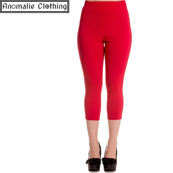 Tina Capris in Red