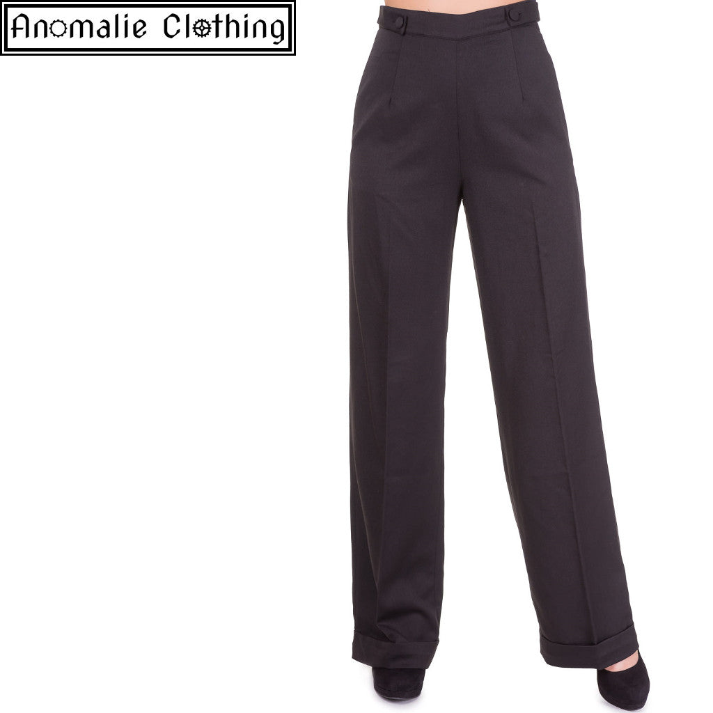Party On Wide Leg Trousers in Black