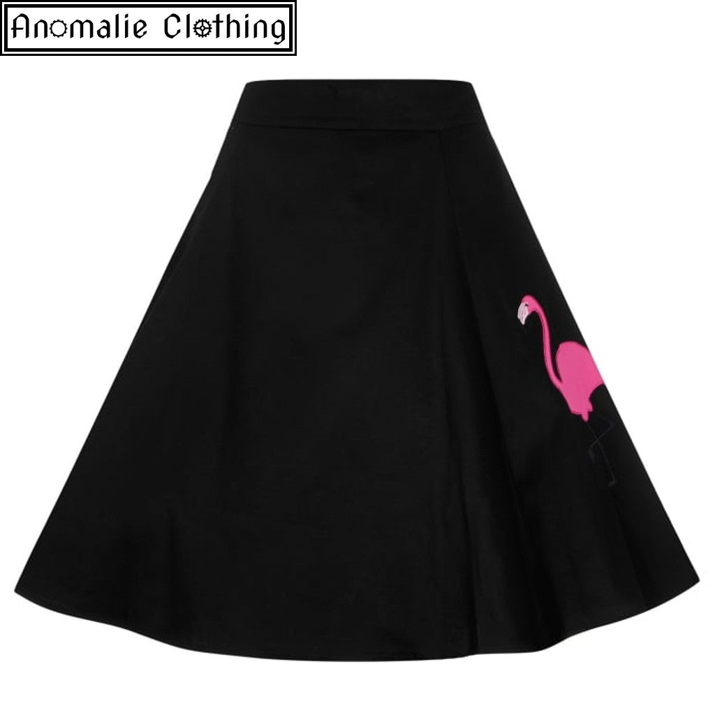 ead7af051be Collectif Tammy Flamingo Skirt at Anomalie Clothing