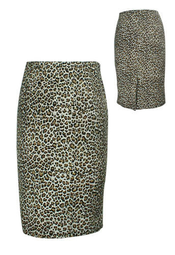 Leopard Print Pencil Skirt - Discontinued