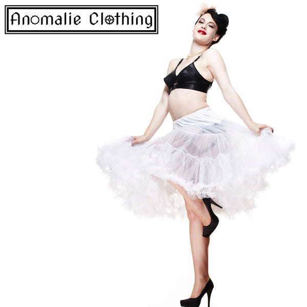 "26"" Long Hell Bunny Petticoat in White"