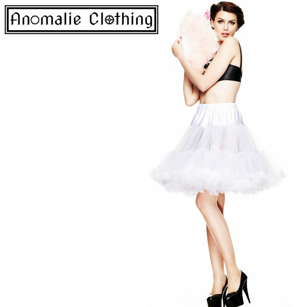 "20"" Short Hell Bunny Petticoat in White"