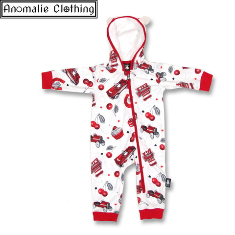Hotrod Cherry Garage Baby Bodysuit - One Size 0-3 Months Left!