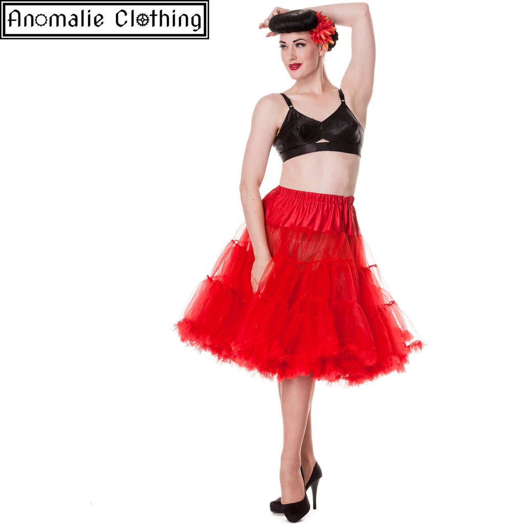"26"" Long Hell Bunny Petticoat in Red"