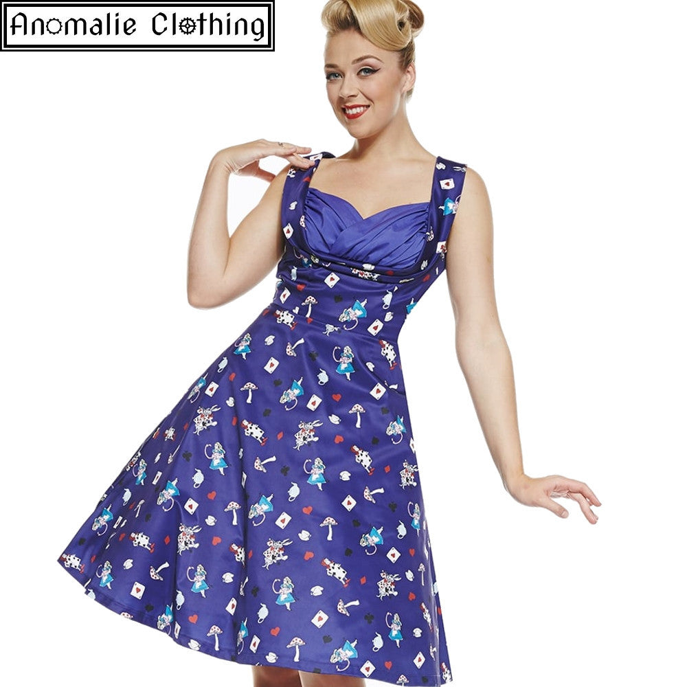 303c2a23aec2f Lindy Bop Ophelia Alice in Wonderland Swing Dress at Anomalie Clothing