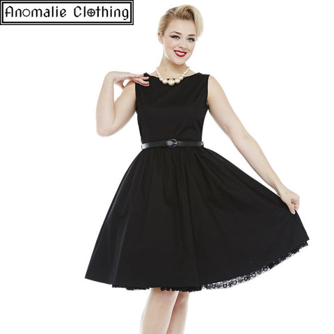 Audrey Princess Dress in Black