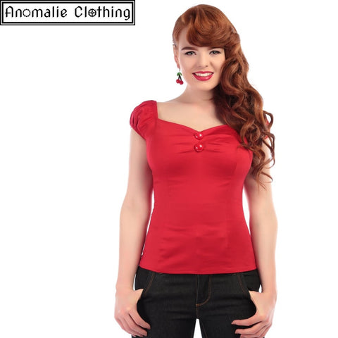 Dolores Top in Red