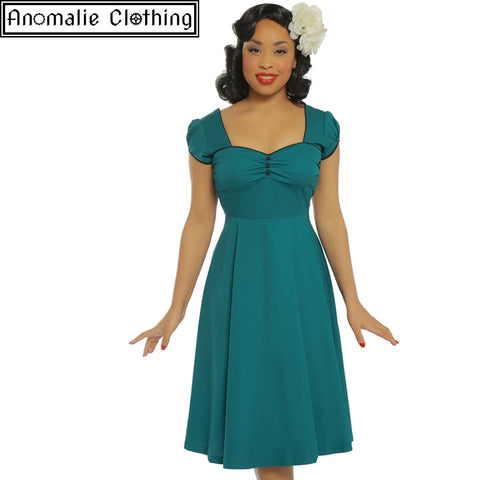 Bella Swing Dress in Teal - One Size UK 8 (AU 6) Left!