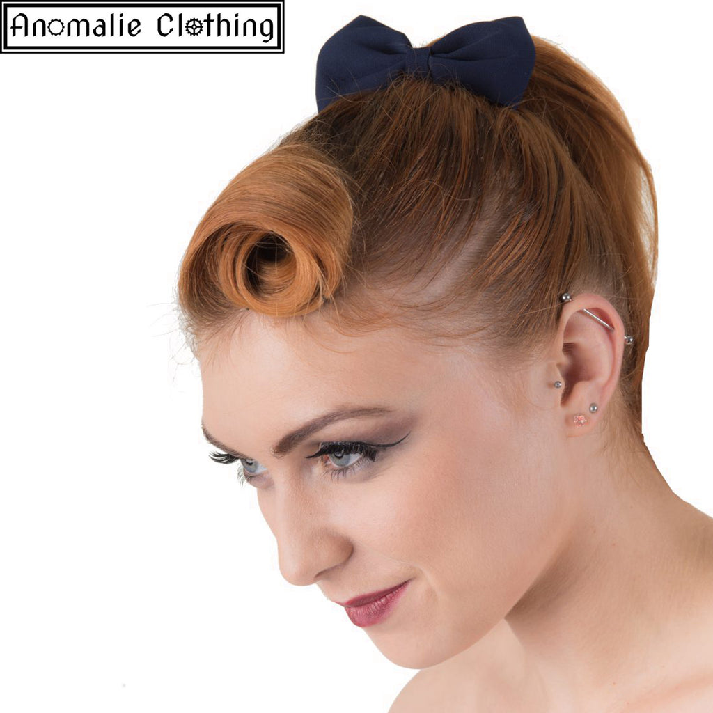 Lovestruck Hairband with Navy Blue Bow
