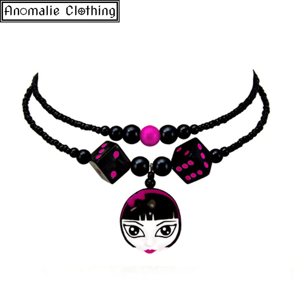 Lady Luck Necklace in Pink