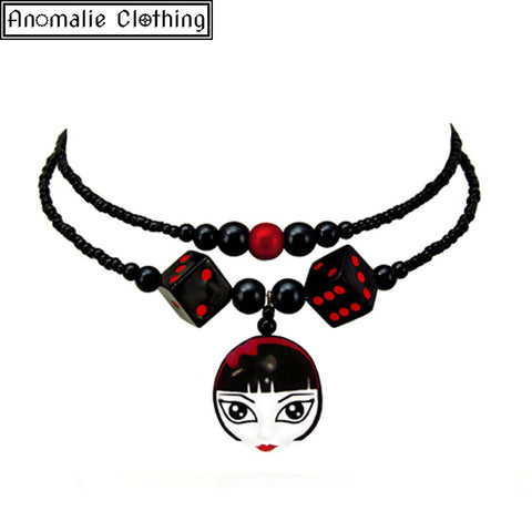 Lady Luck Necklace in Red