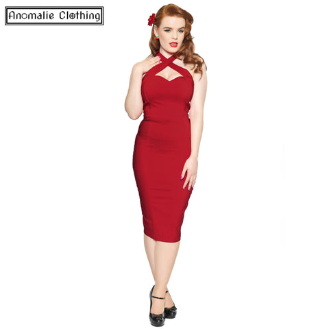 Penny Pencil Dress in Red - Discontinued
