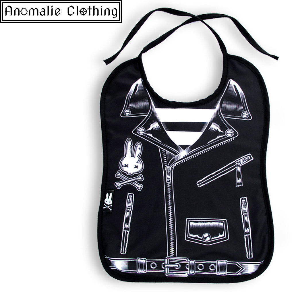 Rocker Jacket Baby Bib