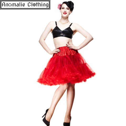 "20"" Short Hell Bunny Petticoat in Red"