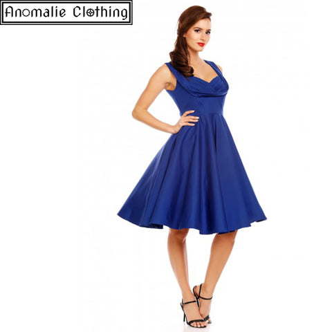 Grace Swing Dress in Sapphire Blue - Discontinued