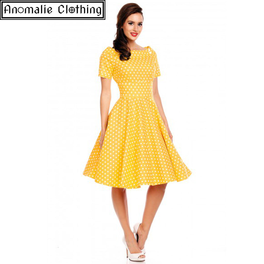 Marlene Swing Dress in Yellow - Discontinued